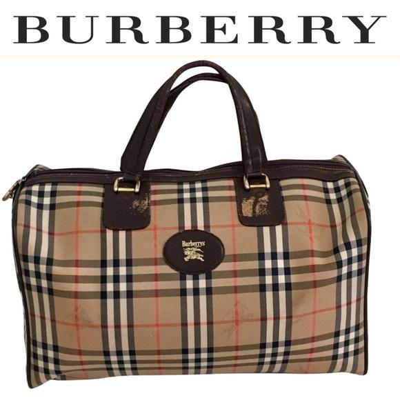 8c98ee062c15 Burberry Handbags - Authentic vintage. BURBERRYS unisex travel bag
